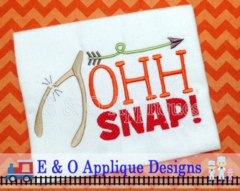 Thanksgiving Embroidery Design, Oh Snap Embroidery Design, Wishbone Embroidery Design, Saying Embroidery Design, Word Art Embroidery Design