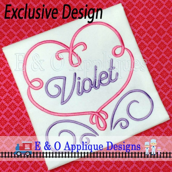 Valentine S Day Embroidery Design Heart Embroidery Etsy