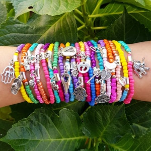 bohemian bracelets 100 wholesale Bracelets layering jewelry beaded bracelet party souvenirs wholesale jewelry stretch bracelets