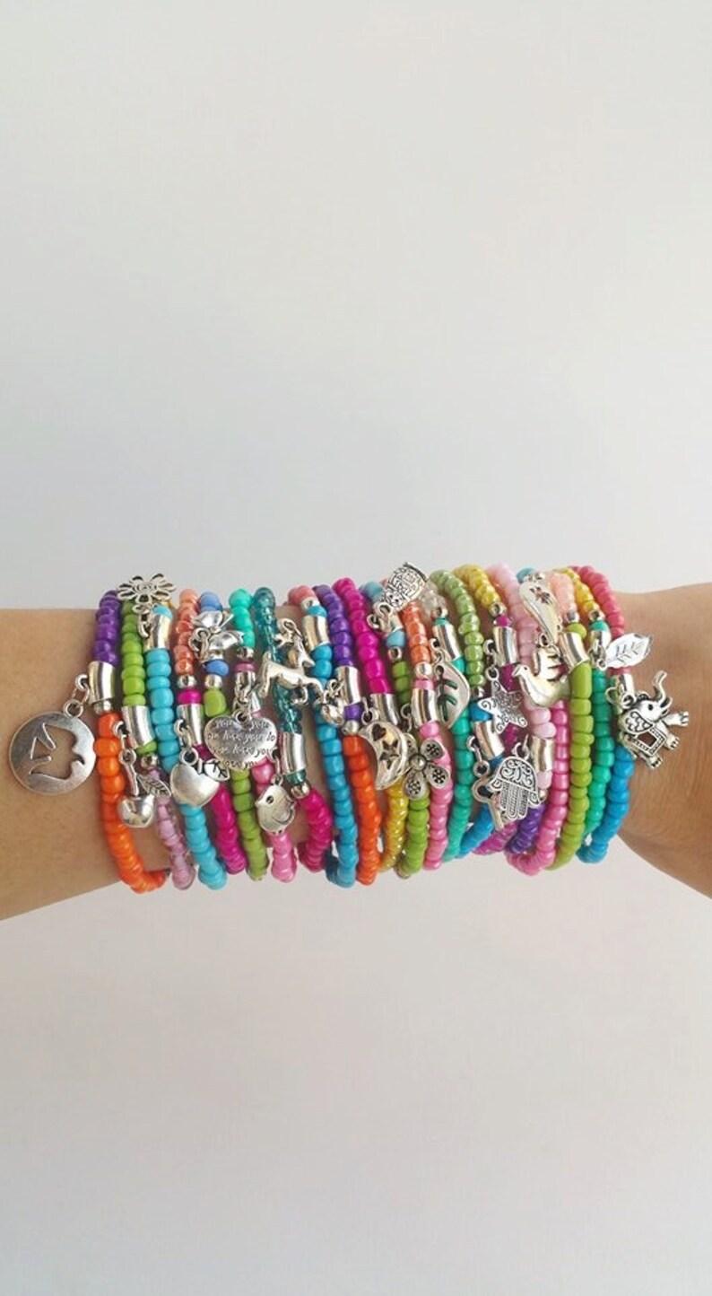 Couleur 20 Élastique Bracelet BraceletsBracelets Multi En Perles Seedbead Empilés De Bloc Bijou 543LAqcRj