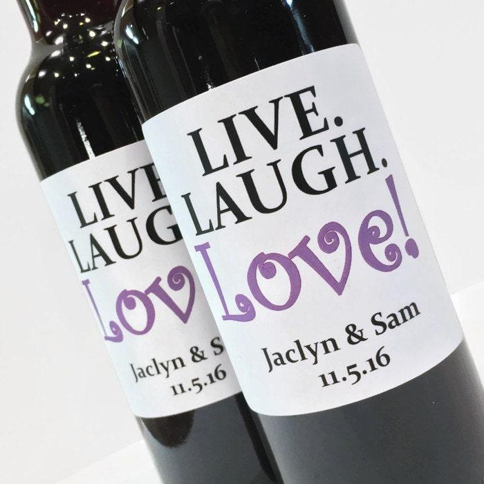 Live Laugh Love Wedding Favor Or Bridal Shower Favor Custom Etsy