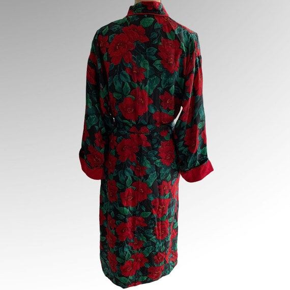 Victorias Secret Bath Robe Floral Terry Wrap Gold… - image 6