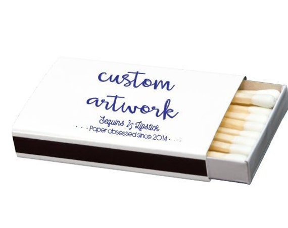 custom matchbox, personalized matches, foil stamped matches, print your own logo, logo printing, promotional matches, custom matches