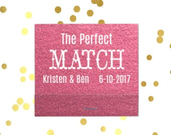 Personalized Wedding matches, Reception matches, Personalized wedding matchbook, sparkler send off matches, the perfect match matches