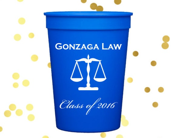 Law school graduation, personalized  plastic cups, Personalized stadium cups, graduation party favors, party cups, class of 2019 cups