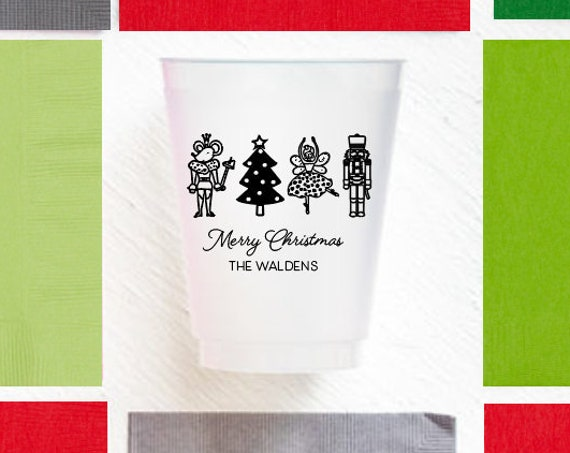 Nutcracker cups, Christmas cups, Personalized cups, Personalized shatterproof cups, Christmas party cups, Holiday party cups, Nutcrackers