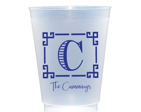 personalized shatterproof cups, custom shatterproof cups, personalized frosted cups, frosted plastic cups, monogrammed cups, party cups