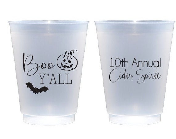 Halloween party cup, Halloween cups, Boo yall, Halloween favor, Personalized cups, Shatterproof cups, Personalized Halloween party favor cup