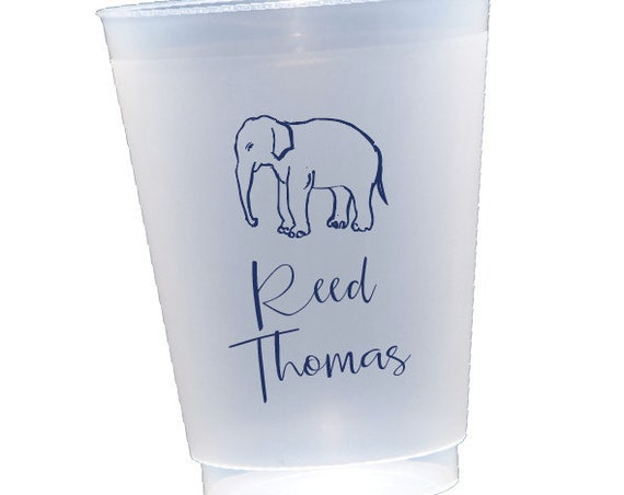 Baby shower cups, Baby shower party favor, Personalized cups, Shatterproof cups, Custom party cups, Safari theme shower cups, Elephant cups