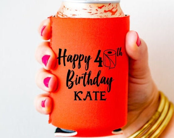 social distancing birthday, covid birthday, 40th birthday can cooler, 40th birthday favor, adult birthday favor, personalized can cooler