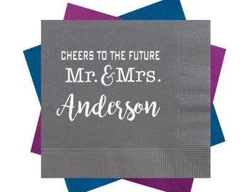 engagement party napkins, couples shower napkins, bridal shower napkins, personalized napkins, monogrammed napkins, wedding reception napkin