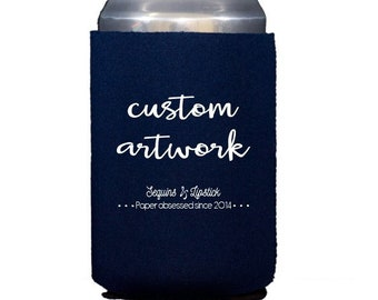 Personalized can cooler, wedding can cooler, neoprene can cooler, personalized huggie, party can cooler, wedding favor, drink sleeve