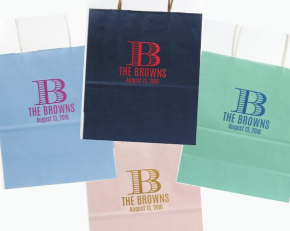Wedding Welcome bag, party favor bag, rehearsal dinner bag, custom bag, reception bag, personalized paper bag, shopping tote bridesmaid gift