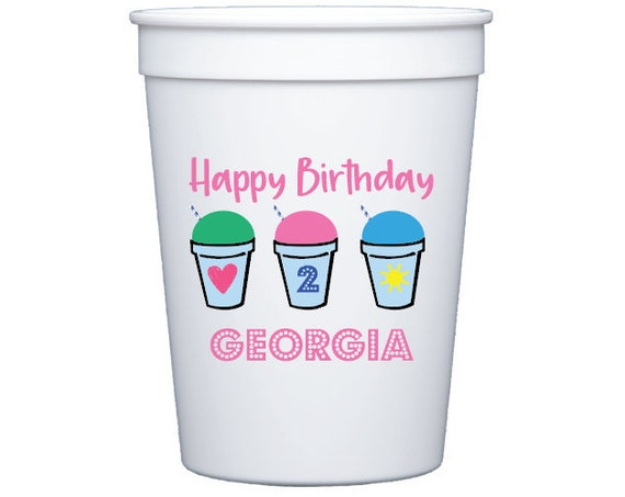 Shave ice birthday, Ice cream birthday, Snow cone party, Kona ice party, Kids birthday party cups, Kids birthday party favor, Custom cups