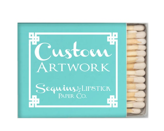 Custom matches, logo printing, custom matchbox, wedding matches, sparkler sendoff