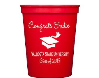 Graduation cups, Graduation party cups, Personalized stadium cups, graduation party favors, grad party cups, personalized cup, class of 2019