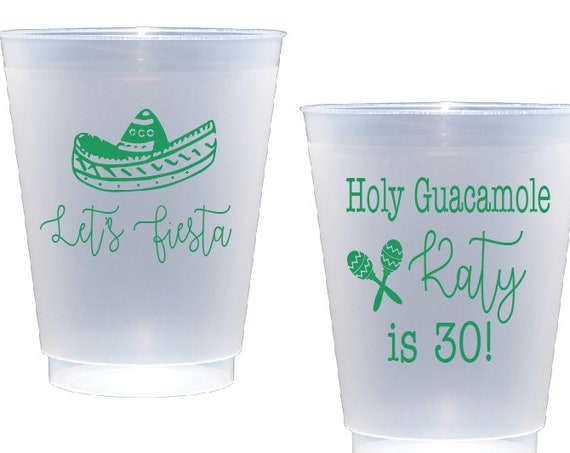 Holy guacamole birthday, 30th birthday cups, Fiesta birthday party cups, Fiesta themed party, Personalized shatterproof cups, Birthday cups