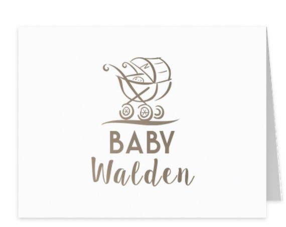 baby stationery children's stationery kids stationery baby shower thank you from baby monogram stationery folded note cards stationery set