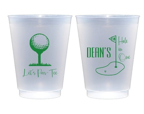 Hole in one golf party cups, Lets par tee cups, Golf theme party cups, Golf theme party favor, First birthday cups, Golf party decor,
