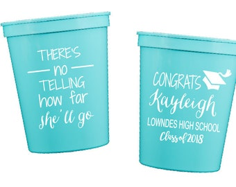 Graduation cups Class of 2019 cup, 2019 grad party Personalized stadium cups high school graduation Custom party cups tassel cups