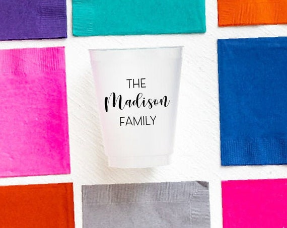 Personalized shatterproof cups, Personalized frosted cups, Housewarming gift idea, Personalized gift idea, Hostess gift, Custom cups