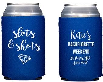 Vegas bachelorette hugger, Vegas bachelorette weekend, Vegas bachelorette weekend hugger, personalized can cooler, bridesmaid gift