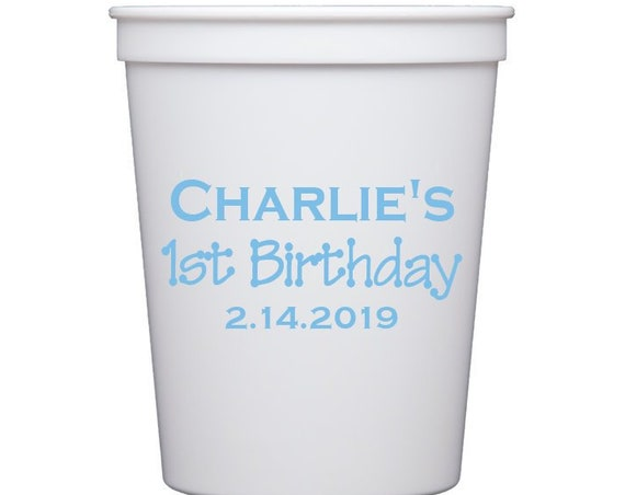 First birthday cups, First birthday party favor, Kid birthday party cup, Kids birthday party favor, Personalized plastic cups, party cups