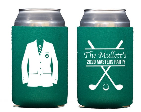 Masters can cooler, Masters party favor, Golf birthday favor, Golf birthday decorations, Masters theme, Golf theme party, Adult favor
