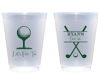 Golf party cups, Fore tee birthday, Let's par tee, Golf theme birthday, Personalized birthday cups, Guys birthday favor, Guy birthday cups