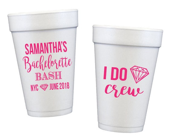 Bachelorette bash cups bachelorette party cups vegas bachelorette weekend cups party favor cups i do crew cups wedding party gift idea