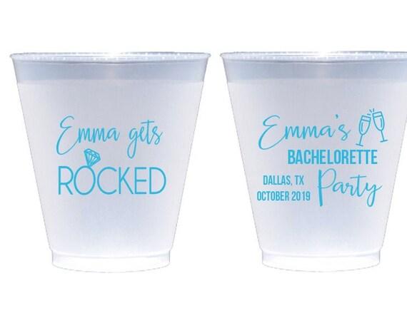 Bachelorette party cups, Personalized bachelorette party favor, Custom shatterproof cups, Wedding party cups, Bachelorette weekend cups