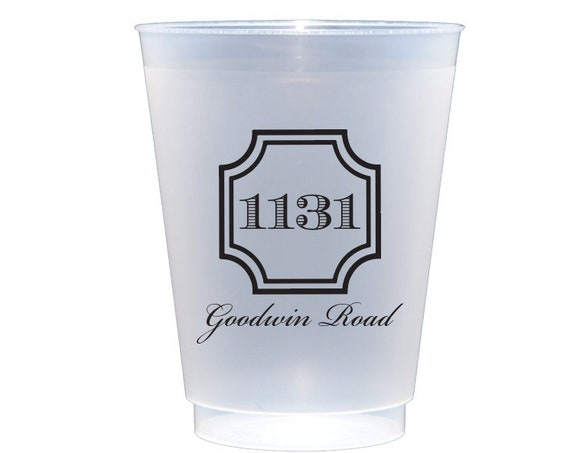 Housewarming party cups, Housewarming gift idea, Personalized cups, Personalized shatterproof cups, Custom frosted cups, New address