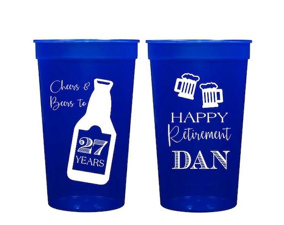 Custom Retirement party Cup, Retirement Stadium Cups, Cheers & Beers to 30 Years Stadium Cup, Retirement Party Ideas, Customized Stadium Cup