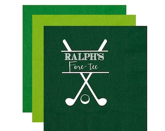 Golf birthday party, Golf birthday napkins, Fore-tee, 40th birthday party napkins, Guys birthday party favor, Golf personalized napkins