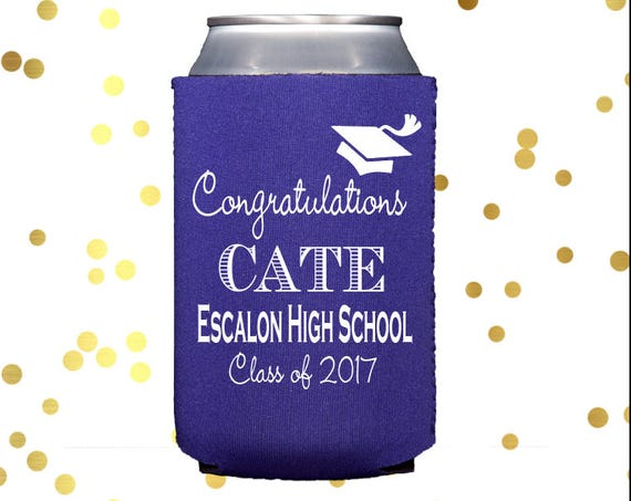 Personalized graduation can cooler, class of 2019 coozie, neoprene can cooler, graduation party huggie,  personalized drink sleeve