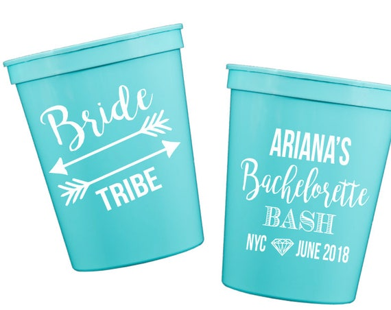 bachelorette cups, bride tribe cups, Personalized plastic cups, Wedding stadium cups, wedding cup favors, party cups, bachelorette bash
