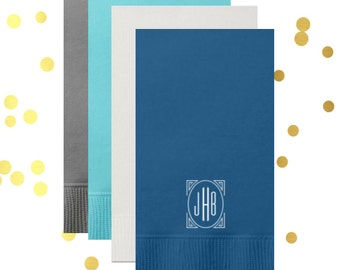 Monogrammed guest towel, personalized napkins, hostess guest towels, wedding napkins, hostess gift, engagement party napkins