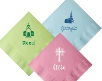 Christening napkins