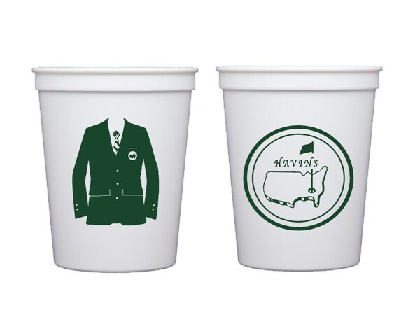 Masters cups, Golf party cups, Golf birthday cups, Golf theme party favor, Personalized cups, Personalized plastic cups, Masters party