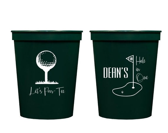 Hole in one birthday, Golf par-tee, Golf themed birthday party, Golf party, First birthday party cups, Personalized kids birthday cups