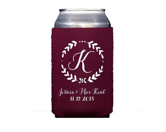 Wedding huggie, Personalized can cooler, wedding hugger, reception favor, wedding can cooler, neoprene personalized drink sleeve