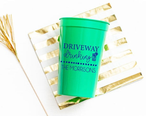 Driveway drinking cups, Driveway drinker cups, Social distancing cups, Quarantine cups, Funny social distancing gift, Personalized cups