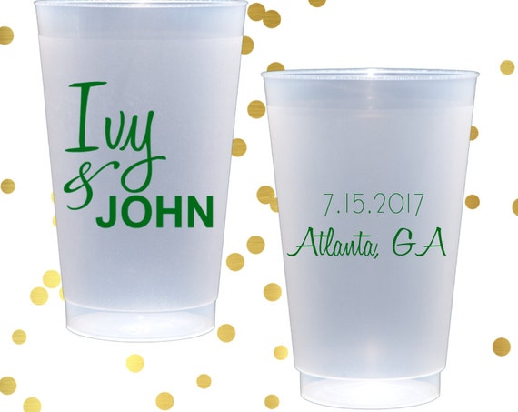 Personalized wedding cups, monogrammed shatterproof cup, birthday party cups, wedding reception cups, monogrammed cups, wedding shower cups