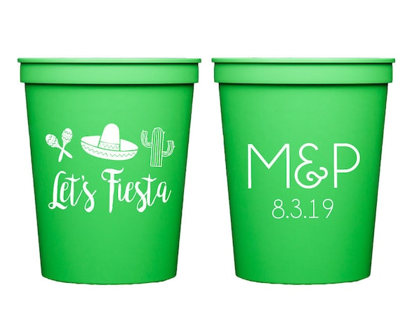 Fiesta cups, Fiesta wedding shower, Fiesta couples shower, Fiesta themed birthday party cups, Fiesta theme party, Cinco de mayo party cups