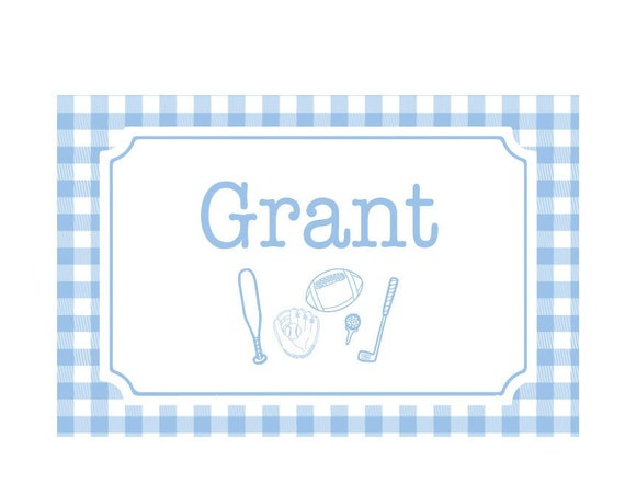 Personalized craft mat, Personalized placemat, Gingham placemat, Boys Personalized Placemat, Customized Placemats for kids, Toddler placemat