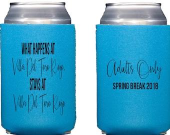 Spring break can cooler, spring break hugger, adults only spring break, Personalized Neoprene huggie, Reception can cooler, drink sleeve