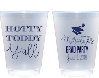 Hotty Toddy cups, Ole Miss cups, University of Mississippi graduation cups, Personalized graduation cups, personalized shatterproof cups