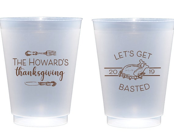 Personalized Thanksgiving cups, Personalized shatterproof cups, Let's get basted, Cute Thanksgiving cups, Friendsgiving cups, Basted af