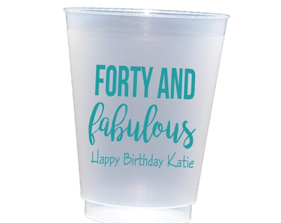 40 and fabulous birthday party cups, 40 and young AF party cups, 40th birthday party, adult party favor, personalized cups, shatterproof cup