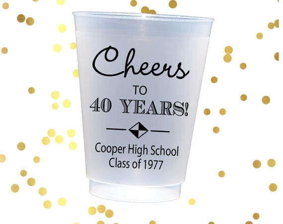 High school reunion cups, class reunion favors, Personalized cups, personalized party cups, homecoming cups, adult party favor